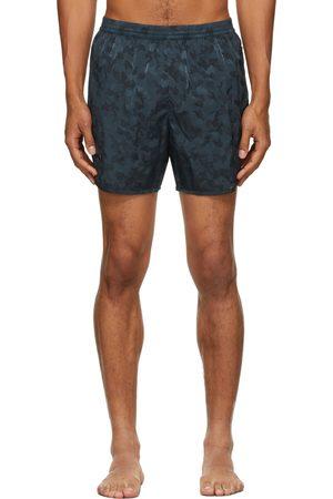 TRUE TRIBE Men Swim Shorts - Blue Camo Wild Steve Swim Shorts