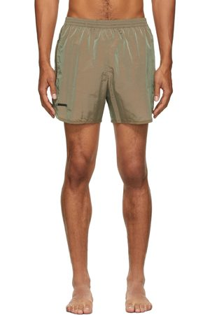 TRUE TRIBE Men Swim Shorts - Beige Wild Steve Swim Shorts