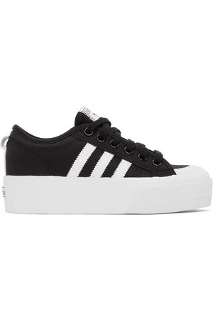 adidas Women Platform Sneakers - Black Nizza Platform Sneakers