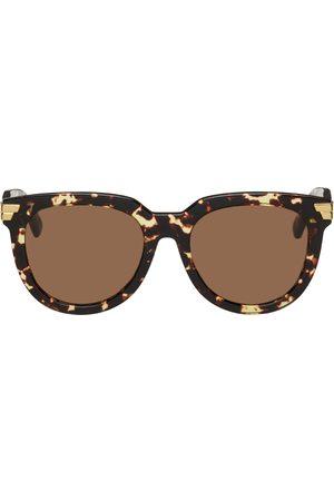 Bottega Veneta Tortoiseshell Acetate Round Sunglasses