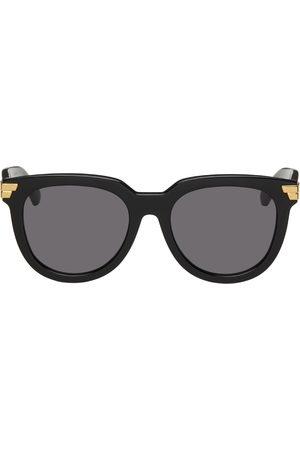 Bottega Veneta Women Round - Black Acetate Round Sunglasses