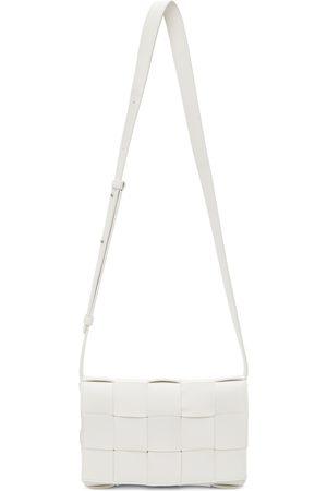 Bottega Veneta Men Luggage - White Cassette Crossbody Bag