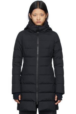 HERNO Women Long sleeves - Black Down Gore-Tex Windstopper Long Jacket