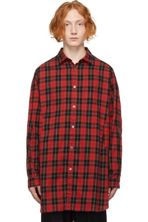 Undercoverism Men Casual - Red Long Check Shirt