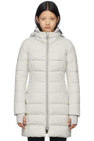 HERNO Women Long sleeves - Beige Down Gore-Tex Windstopper Long Jacket