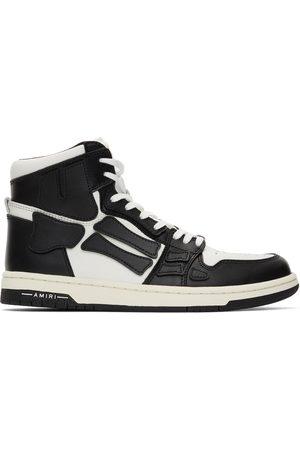 AMIRI Men Sneakers - Black & White Skel Top Hi Sneakers