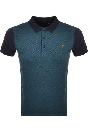 Farah Vintage Short Sleeve Polo T Shirt Navy