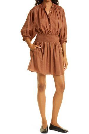REBECCA TAYLOR Women's Cotton Voile Shirtdress