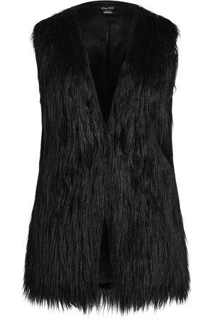 City Chic Plus Size Women's Fallen Angel Faux Fur Vest