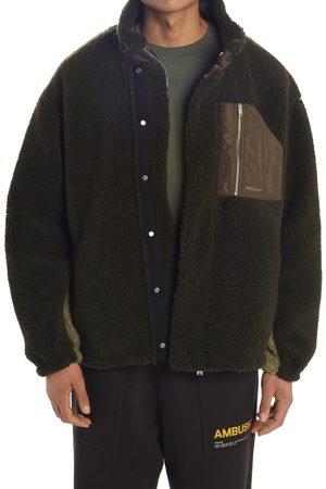 Ambush Men's Colorblock Wool Blend Fleece Jacket