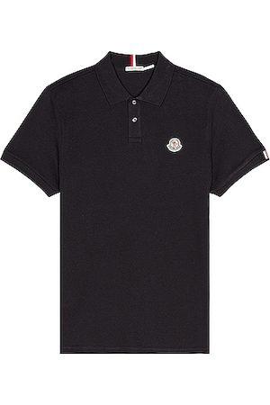 Moncler Short Sleeve Polo in Navy