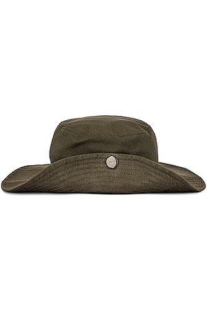 Ganni Software Heavy Cotton Hat in Olive