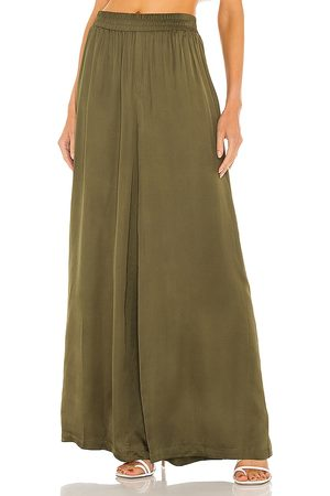 L'Agence Lillian Wide Leg Pant in Olive.