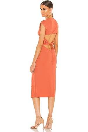 NBD Cousteau Midi Dress in Coral.