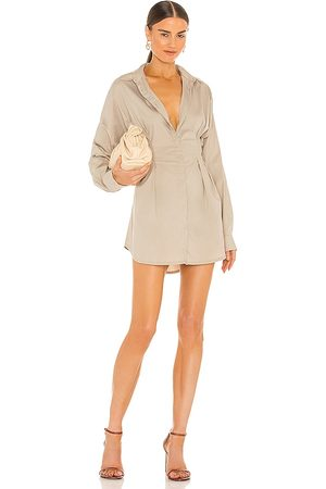 OW Intimates Ella Shirt Dress in Beige.