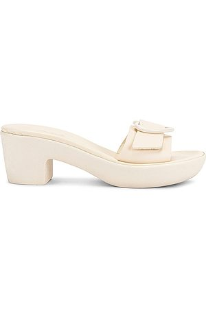 Ancient Greek Sandals Heart Jelly Clog in Ivory.
