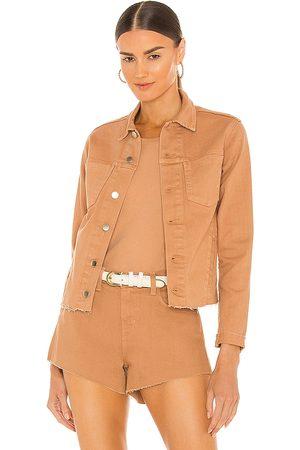 L'Agence Janelle Slim Jacket in Tan.