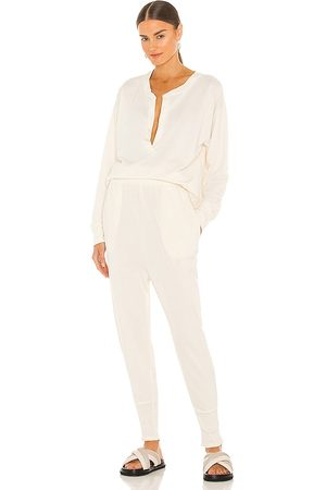 Free People Cozy Cool Girl Lounge Set in Ivory.