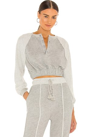 Lovers + Friends Carley Sweatshirt in Grey.