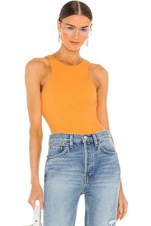 THE RANGE Women Bodies - Braided Bodysuit in Orange.