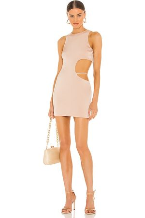 h:ours Clarity Mini Dress in Nude.