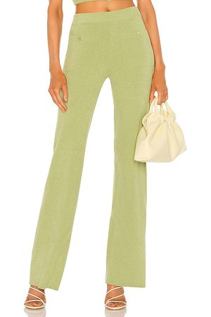 Song of Style Caspian Knit Pants in Green.