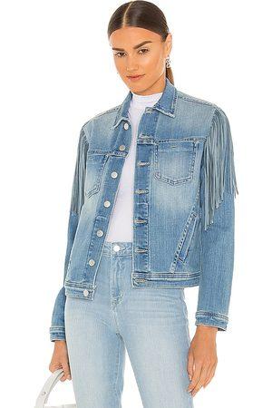 L'Agence Celine Slim Fringe Jacket in Blue.