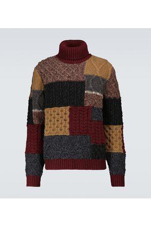 Dolce & Gabbana Patchwork turtleneck sweater