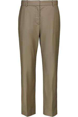Joseph Tape high-rise straight virgin wool pants