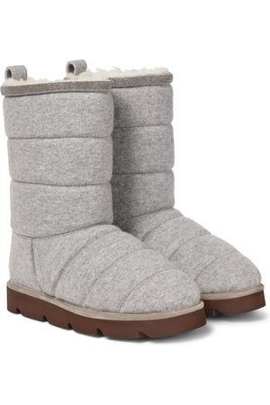 Brunello Cucinelli Quilted shearling-lined snow boots