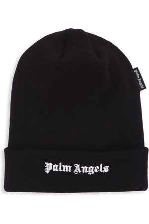 Palm Angels Men Beanies - Embroidered Logo Beanie