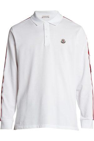Moncler Men Polo Shirts - Bell Logo Long-Sleeve Polo Shirt
