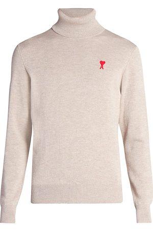 Ami Merino Wool Turtleneck Sweater