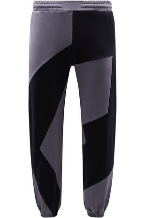 McQ Men Sweatpants - Colorblock Patchwork Sweatpants