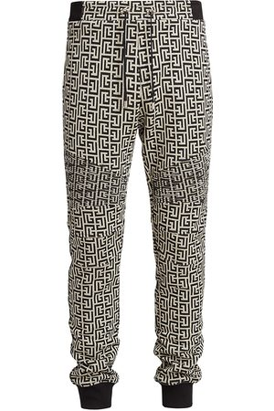 Balmain Men Sweatpants - Logo Cotton Joggers