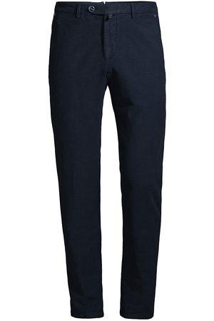 Kiton Men Chinos - Cotton Cashmere Flat Front Pants