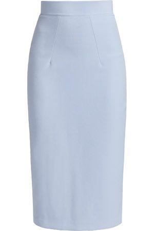 Safiyaa Hokoku Crepe Pencil Skirt