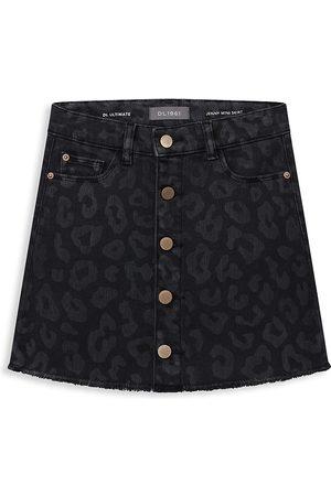 DL1961 Girls Mini Skirts - DL1961 Premium Denim Girl's Jenny Leopard Mini Skirt