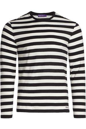 Ralph Lauren Men Long sleeves - Striped Long-Sleeve Crewneck Shirt