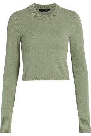 ALICE+OLIVIA Women Sports Hoodies - Luna Shrunken Cropped Sweater