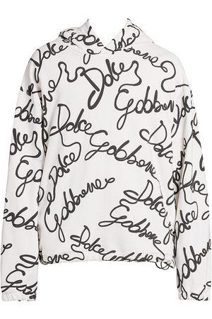 Dolce & Gabbana Men Hoodies - Script Logo-Print Hoodie