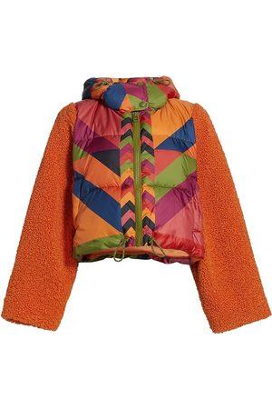 Farm Rio Women Puffer Jackets - Juliana's Striped Puffer Jacket