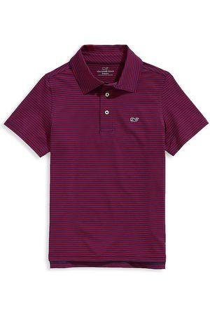 Vineyard Vines Boys Polo Shirts - Little Boy's & Boy's Bradley Stripe Sankaty Performance Polo
