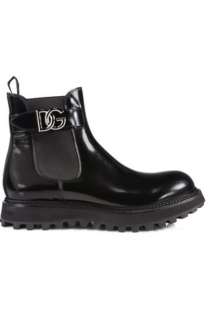 Dolce & Gabbana Men Chelsea Boots - Bernini Logo Buckle Chelsea Boots