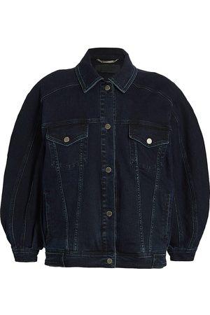 Alberta Ferretti Women Denim Jackets - Oversized Stretch-Denim Trucker Jacket