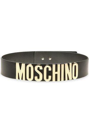 Moschino Women Belts - Logo Leather Waist Belt