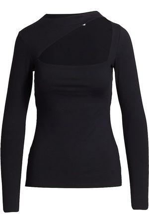 Susana Monaco Women Sports T-shirts - Angle Cutout Jersey Top