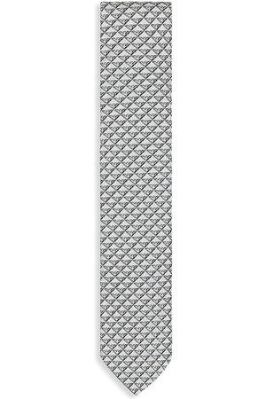 Armani Boys Neckties - Kid's White Silk Logo Tie