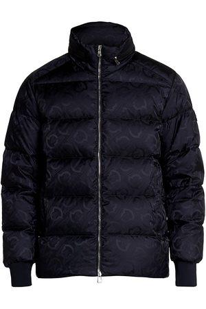 Moncler Men Puffer Jackets - Logo Jacquard Puffer Jacket