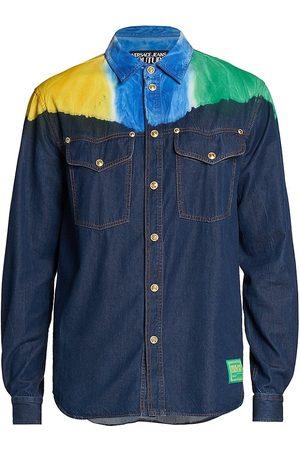 VERSACE Men Denim - Tie-Dye Denim Shirt